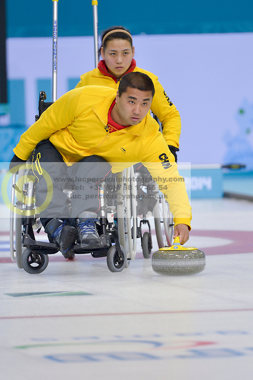 Haito Wang, Guangqin Xu, Wheelchair Curling Semi Finals at the 2014 Sochi Winter Paralympic Games, Russia