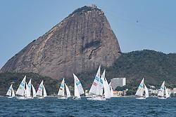SONAR flotilla under the Sugarloaf à Rio 2016 Paralympic Games, Brazil