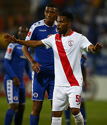 Nhlanhla Vilakazi of Free State Stars during the 2016 Premier Soccer League match between Supersport United and The Free Stat Stars held at the King Zwelithini Stadium in Durban, South Africa on the 24th September 2016<br /> <br /> Photo by:   Steve Haag / Real Time Images