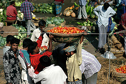 BANGLADESH DHAKA KAWRAN BAZAAR 2MARB05 - Market scenes at Kawran Bazaar vegetable market. The Bazaar has been in the Tejgaon area for at least 30 years and is one of the largest markets in Dhaka city.....jre/Photo by Jiri Rezac....© Jiri Rezac 2005....Contact: +44 (0) 7050 110 417..Mobile:  +44 (0) 7801 337 683..Office:  +44 (0) 20 8968 9635....Email:   jiri@jirirezac.com..Web:    www.jirirezac.com....© All images Jiri Rezac 2005- All rights reserved.