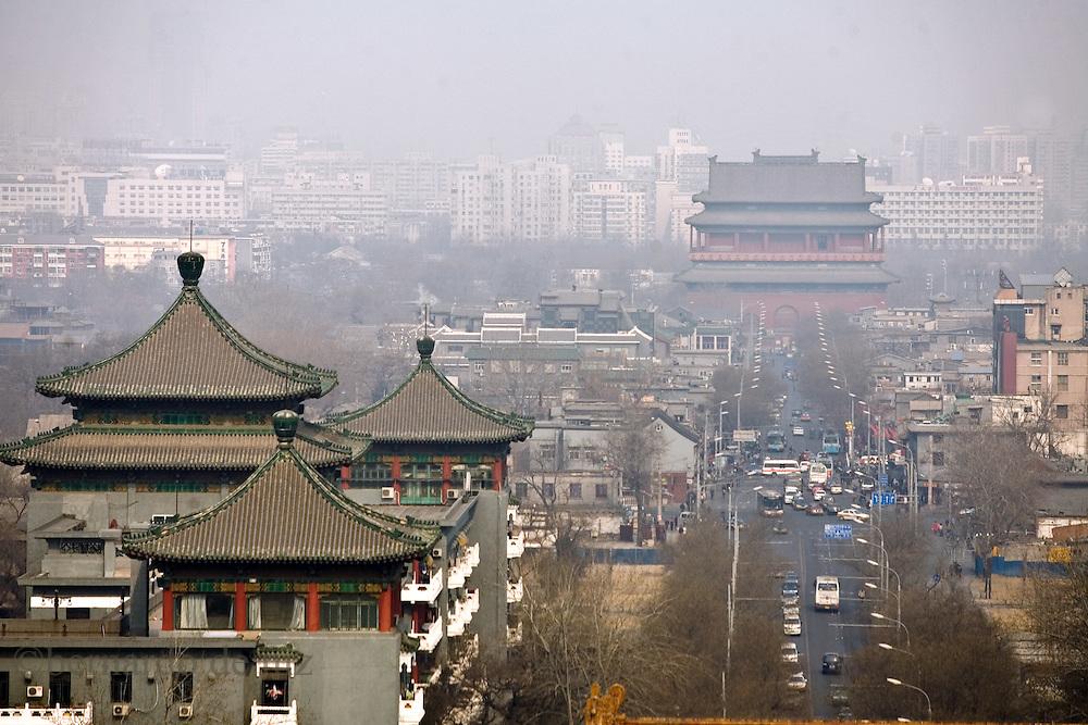 Imágenes panoramicas del centro de Beijing, China. Febrero 17, 2008. Fotos: Bernardo De Niz