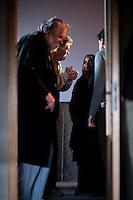 IL VILLAGGIO DI CARTONE<br /> <br /> Michael Lonsdale e Linda Keny insieme al Regista Olmi.<br /> <br /> Foto di Kash Gabriele Torsello