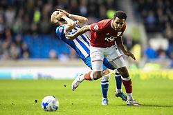 Bristol City's Korey Smith knocks Brighton's Bruno Saltor - Mandatory byline: Jason Brown/JMP - 07966 386802 - 20/10/2015 - FOOTBALL - American Express Community Stadium - Brighton,  England - Brighton & Hove Albion v Bristol City - Championship