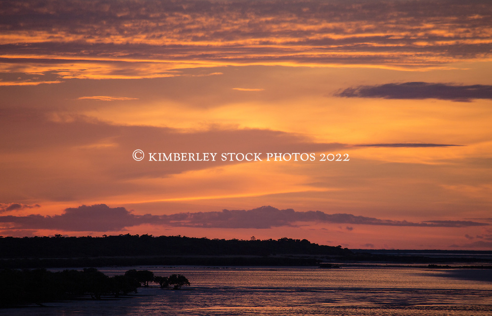 Early morning light over Dampier Creek, Broome, Western Australia.