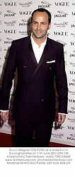 Gucci designer TOM FORD at a reception in Buckinghamshire on 11th June 2001.OPB 138