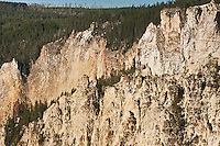 These pinnacles owe their shapes to the erosive forces of wind and water.  Grand Canyon Of The Yellowstone, Wyoming, USA.
