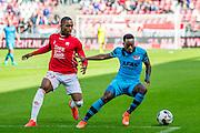 UTRECHT - 21-08-2016, FC Utrecht - AZ, Stadion Galgenwaard, 1-2, FC Utrecht speler Gyrano Kerk, AZ speler Ridgeciano Haps