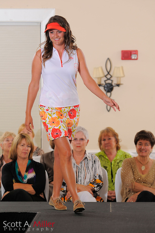 Fashion show featuring Symetra Tour players prior to the Daytona Beach Invitational  at LPGA International on Sept. 24, 2012 in Daytona Beach, Florida...(Scott A. Miller /AP Images for NCOA)