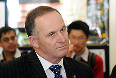 Auckland-Prime Minister  John Key visits Mt Roskill Grammar School