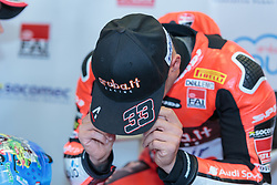 September 29, 2018 - 33, Marco Melandri, ITA, Ducati Panigale R, Aruba.it Racing - Ducati, SBK 2018, MOTO - SBK Magny-Cours Grand Prix 2018, SuperPole, 2018, Circuit de Nevers Magny-Cours, Acerbis French Round, France ,September 29 2018, action during the SBK SuperPole of the Acerbis French Round on September 29 2018 at Circuit de Nevers Magny-Cours, France (Credit Image: © AFP7 via ZUMA Wire)
