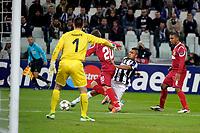 Arturo Vidal gol Juventus<br /> Calcio Juventus Nordsjaelland<br /> Champions League - Torino 07/11/2012 Juventus Stadium <br /> Football Calcio 2012/2013<br /> Foto Federico Tardito Insidefoto