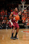 January 27, 2013: Michael Snaer #21 of Florida State in action during the NCAA basketball game between the Miami Hurricanes and Florida State Seminoles at the BankUnited Center in Coral Gables, FL. The Hurricanes defeated the Seminoles 71-47.
