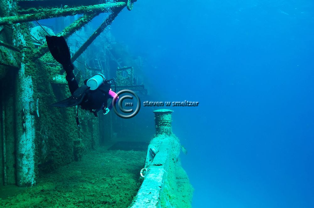Exploring Starboard, USS Kittiwake, Grand Cayman