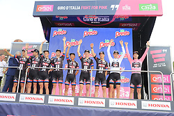 Team Giant-Alpecin win the team award at the end of Stage 2 of the 2016 Giro d'Italia running 190km from Arnhem to Nijmegen, , The Nethrerlands. 7th May 2016.<br /> Picture: Eoin Clarke | Newsfile<br /> <br /> <br /> All photos usage must carry mandatory copyright credit (&copy; Newsfile | Eoin Clarke)