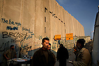 FOR REDUX WEB - PHOTO: MARKUS MARCETIC.Daily life behind the wall.Afternoon at checkpoint in Betlehem, Palestinians returning home from working on the Israeli side of the barrier. The famous city used to be a tourist attraction, today, going in to Betlehem, it more resembles entering a prison.