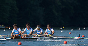 Lucerne, SWITZERLAND. ITA M4-. <br /> Bow, Marco DI COSTANZO, Matteo CASTALDO, Matteo<br /> LODO, Giuseppe VICINO, Heat of the men's four. 2015 FISA World Cup III, Lake Rotsee,  08:35:28  Friday  10/07/2015   [Mandatory Credit. Peter SPURRIER/Intersport Images].