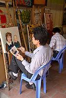 Vietnam. Hanoi. École de peinture. // Vietnam. Hanoi. Painting school.