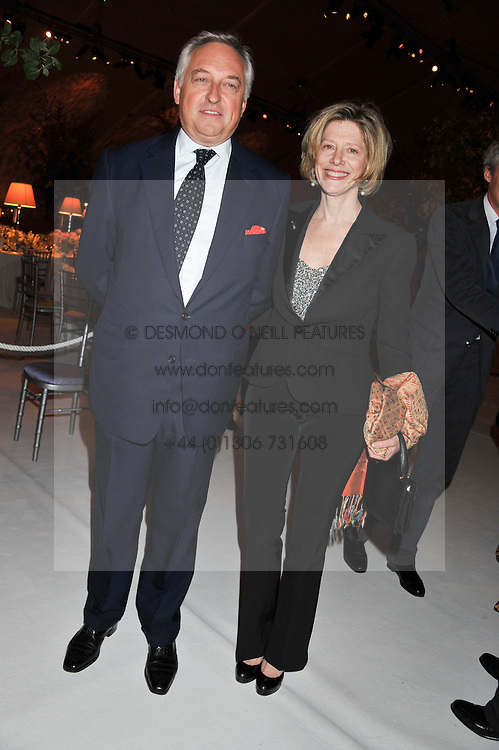 COUNT & COUNTESS EDMONDO DI ROBILANT at a dinner hosted by Cartier following the following the opening of the Chelsea Flower Show 2012 held at Battersea Power Station, London on 21st May 2012.