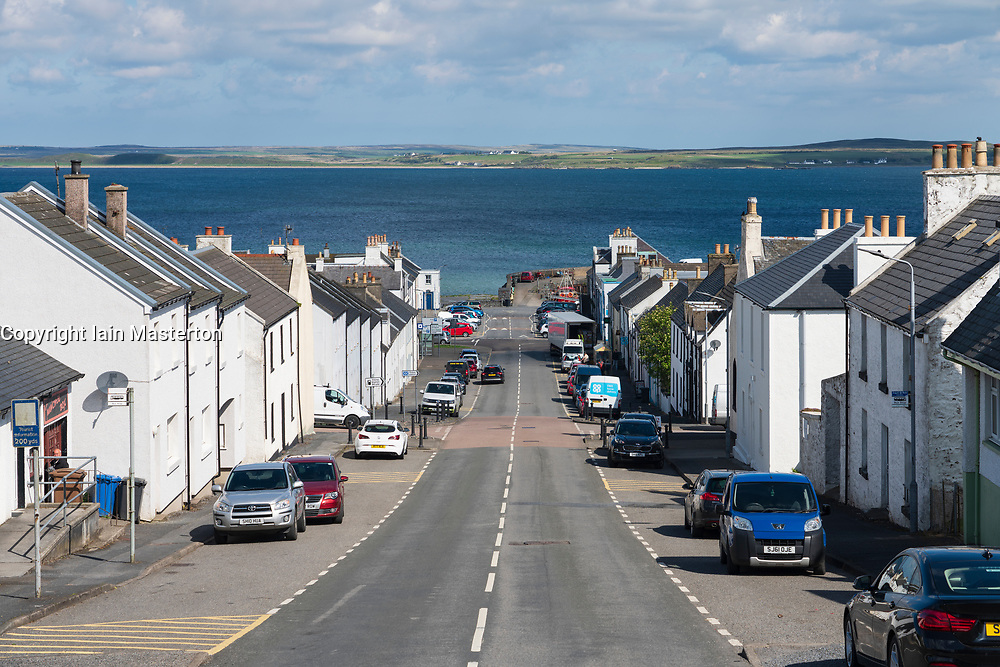View of Main Street in village of Bowmore on Islay, Scotland, UK