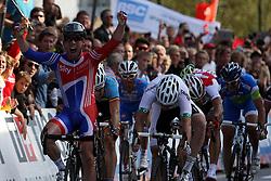 Winner Mark Cavendish (Great Britain) during the Men's Elite Road Race at the UCI Road World Championships on September 25, 2011 in Copenhagen, Denmark. (Photo by Marjan Kelner / Sportida Photo Agency)