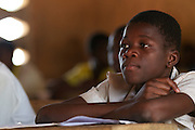 Students learning in classroom at Pope John.s Catholic Junior High School, northern Ghana.