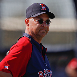 February 23, 2011; Fort Myers, FL, USA; Boston Red Sox manager Terry Francona (47) during spring training at the Player Development Complex.  Mandatory Credit: Derick E. Hingle