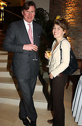BERTIE WAY and AMBER NUTTALL at a party to celebrate the publication of 'Last Voyage of The Valentina' by Santa Montefiore at Asprey, 169 New Bond Street, London W1 on 12th April 2005.<br />