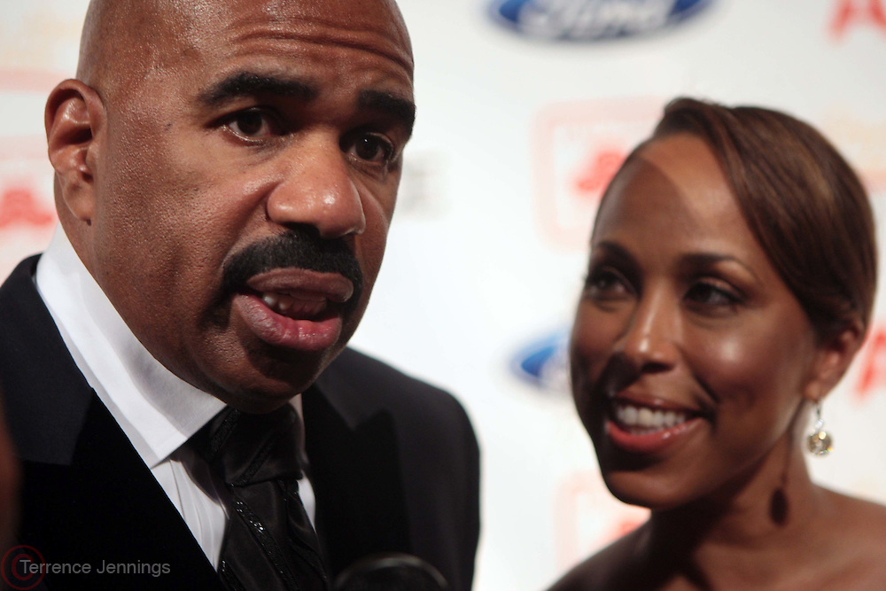 4 April 2011- NEW YORK,  NY- l to r: Steve and Majorie Harvey at The 2nd Annual Steve Harvey Foundation Gala Honoring Tyler Perry, Chris  and Malaak Rock and Ford Motor Company CEO Alan Mulally held at Cipriani Wall Street on April 4, 2011 in New York City. Photo Credit: Terrence Jennings