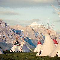 blackfeet nation teepees on saint marys lake glacier national park