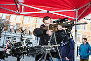 Brussels, Belgium 20160313 The Royal Belgian Military Academy had its yearly open day in Etterbeek, Brussels.The Royal Military Academy is a military institution of university education responsible for the basic academic, military and physical training of future officers.Guy seriously interested in weapons