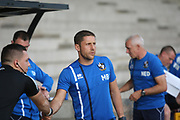 Port Vale Manager Michael Brown during the Pre-Season Friendly match between Port Vale and Derby County at Vale Park, Burslem, England on 18 July 2017. Photo by John Potts.