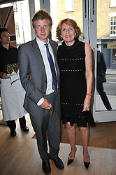 The HON.EDWARD SIDDELEY and his mother KIKI, LADY KENILWORTH at a party to celebrate the publication of 'Garden' by Randle Siddeley held at Linley, 60 Pimlico Road, London on 24th May 2011.