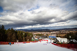 Course and city Maribor in the back during the 7th Ladies' Slalom at 55th Golden Fox - Maribor of Audi FIS Ski World Cup 2018/19, on February 2, 2019 in Pohorje, Maribor, Slovenia. Photo by Blaž Weindorfer / Sportida