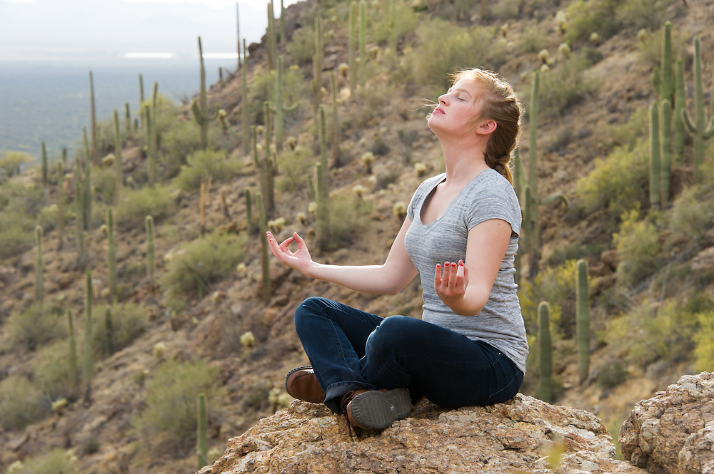 Tucson AZ<br /> Young Woman Meditating Grants Pass, Tucson Arizona