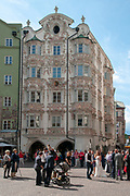 Austria, Innsbruck Baroque style Helblinghaus Building in Herzog-Friedrich Strasse in the historic town