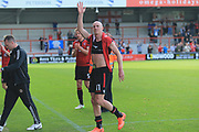 Kevin Ellison of Morecambe man of the match during the EFL Sky Bet League 2 match between Morecambe and Newport County at the Globe Arena, Morecambe, England on 16 September 2017. Photo by Mick Haynes.