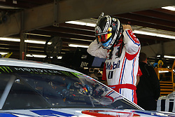 September 23, 2017 - Loudon, New Hampshire, United States of America - September 23, 2017 - Loudon, New Hampshire, USA: Kevin Harvick (4) hangs out in the garage during practice for the ISM Connect 300 at New Hampshire Motor Speedway in Loudon, New Hampshire. (Credit Image: © Justin R. Noe Asp Inc/ASP via ZUMA Wire)