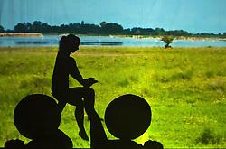 05.05.2011, Ferry Porsche CONGRESS CENTER, Zell am See, AUT, IRONMAN 70.3 Salzburg, im Bild Schattenspiele Silhouette einer weiblichen Person, mit zwei weiteren wird eine Radfahrerin dargestellt während der Präsentations- Pressekonferenz des Ironman 70.3 Zell am See Kaprun, der am 26. August 2012 erstmals über die Bühne geht // Shadow silhouette of a female person, with two more, a cyclist shown, EXPA Pictures © 2011, PhotoCredit: EXPA/ J. Feichter
