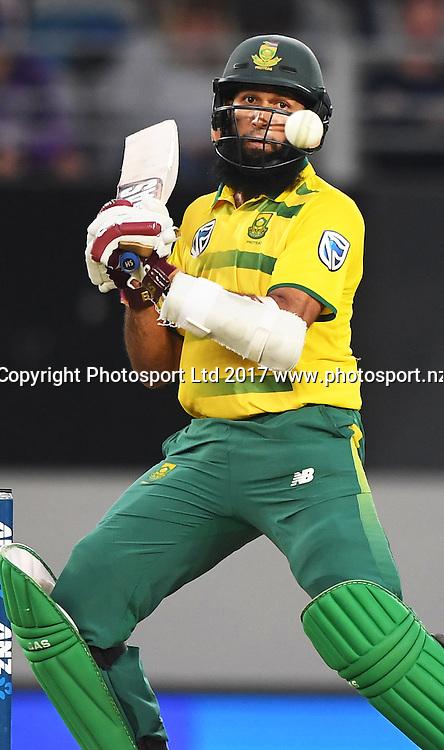Hashim Amla. International Twenty20 Cricket. New Zealand Black Caps v South Africa, Eden Park, Auckland, New Zealand. Friday 17 February 2017 © Copyright photo: Andrew Cornaga / www.photosport.nz