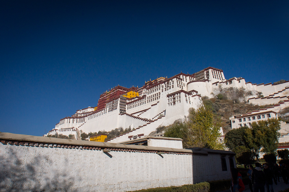 The Potala Palace is a World Heritage Site in Lhasa, Tibet Autonomous Region.  It was the residence of the Dalai Lama until the 14th Dalai Lama fled to India during the 1959 Tibetan Uprising.