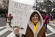WASHINGTON,DC JAN 17: Images from the 44th Annual March for Life, commemorating the anniversary of the Roe v. Wade case making abortion legal in the United States. Marchers had a deep sense of love, joy and optimism that through thier Prayers and perseverence the law of the land may be changed to protect the most vulnerable...the unborn.<br /> <br /> Photo Credit: Jeffrey Bruno