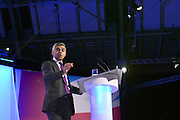 © Licensed to London News Pictures. 03/10/2012. Manchester, UK Sadiq khan on Day 4 at The Labour Party Conference at Manchester Central today 3rd october 2012. Photo credit : Stephen Simpson/LNP