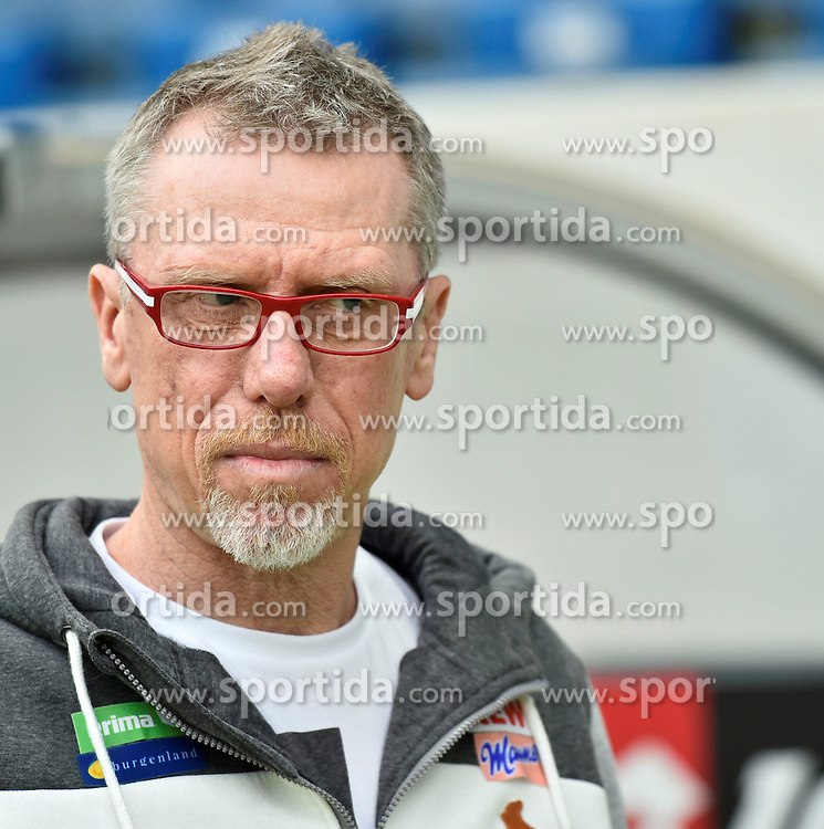 03.04.2016, Wirsol Rhein Neckar Arena, Sinsheim, GER, 1. FBL, TSG 1899 Hoffenheim vs 1. FC Koeln, 28. Runde, im Bild vor dem Spiel: Trainer Coach Peter Stoeger 1. FC Koeln // during the German Bundesliga 28th round match between TSG 1899 Hoffenheim and 1. FC Cologne at the Wirsol Rhein Neckar Arena in Sinsheim, Germany on 2016/04/03. EXPA Pictures &copy; 2016, PhotoCredit: EXPA/ Eibner-Pressefoto/ Weber<br /> <br /> *****ATTENTION - OUT of GER*****