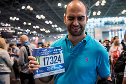 03-11-2017 USA: NYC Marathon We Run 2 Change Diabetes day 1, New York<br /> Expo day, de dag voor startnummers, shirtjes en kleding halen. Let start running /