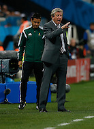 Roy Hodgson of England during the 2014 FIFA World Cup match at Arena Corinthians, Sao Paulo<br /> Picture by Andrew Tobin/Focus Images Ltd +44 7710 761829<br /> 19/06/2014