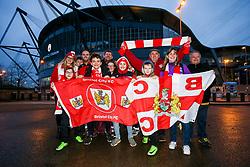 Bristol City fans - Rogan/JMP - 09/01/2018 - Etihad Stadium - Manchester, England - Manchester City v Bristol City - Carabao Cup Semi Final First Leg.