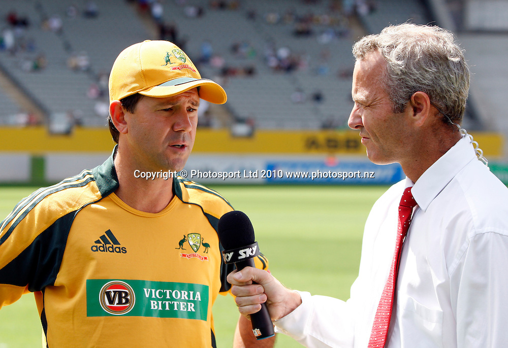 Ricky Ponting talks to Sky TV's Mark Richardson.<br />