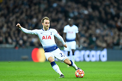 February 13, 2019 - London, England, United Kingdom - Tottenham midfielder Christian Eriksen puts another cross in during the UEFA Champions League match between Tottenham Hotspur and Ballspielverein Borussia 09 e.V. Dortmund at Wembley Stadium, London on Wednesday 13th February 2019. (Credit: Jon Bromley | MI News & Sport Ltd) (Credit Image: © Mi News/NurPhoto via ZUMA Press)
