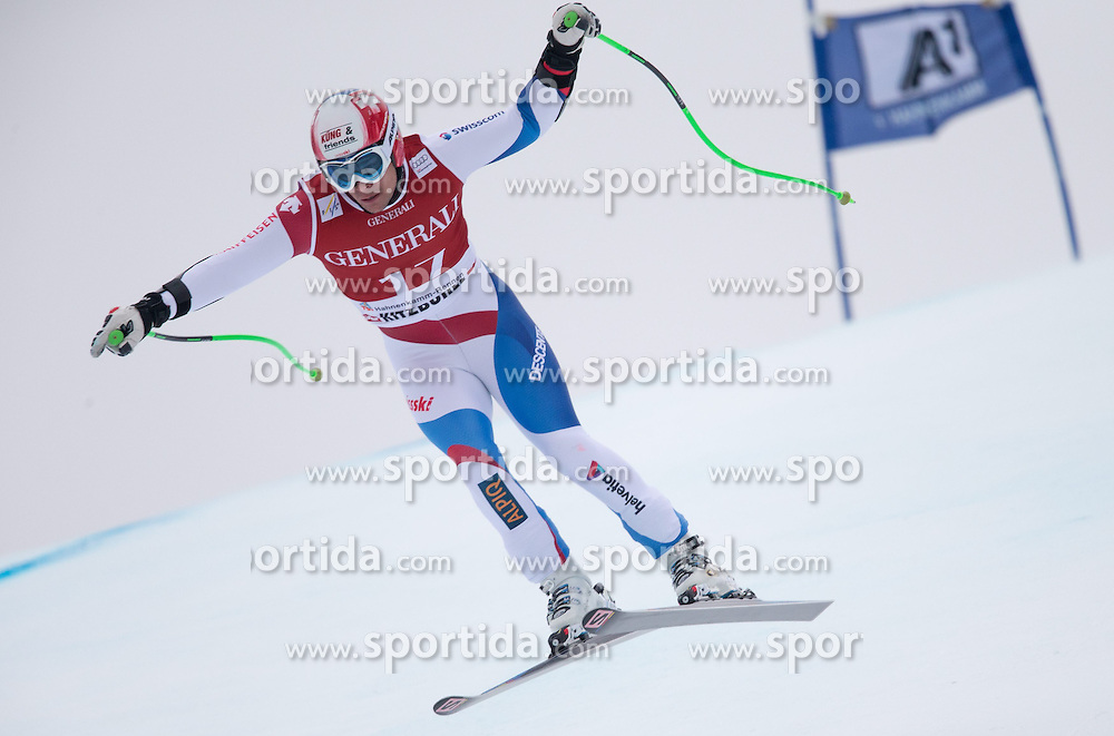 23.01.2015, Streif, Kitzbuehel, AUT, FIS Ski Weltcup, Supercombi Super G, Herren, im Bild Patrick Kueng (SUI) // Patrick Kueng of Switzerland in action during the men's Super Combined Super-G of Kitzbuehel FIS Ski Alpine World Cup at the Streif Course in Kitzbuehel, Austria on 2015/01/23. EXPA Pictures © 2015, PhotoCredit: EXPA/ Johann Groder
