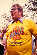 "Billy Carter at the kickoff of Billy Beer in October 1977. William Alton - Billy - Carter (March 29, 1937 – September 25, 1988) was an American farmer, businessman, brewer, and politician, and the younger brother of U.S. President Jimmy Carter. Carter promoted Billy Beer and was a candidate for mayor of Plains, Georgia. Carter was born in Plains, Georgia, to James Earl Carter Sr. and Lillian Gordy Carter. He was named after his paternal grandfather and great-grandfather, William Carter Sr. and William Archibald Carter Jr. respectively. He attended Emory University in Atlanta but did not complete a degree. He served four years in the United States Marine Corps, then returned to Plains to work with his brother in the family business of growing peanuts. In 1955, at the age of 18, he married Sybil Spires (b. 1939), also of Plains. They were the parents of six children: Kim, Jana, William ""Buddy"" Carter IV, Marle, Mandy, and Earl, who was 12 years old when his father died."